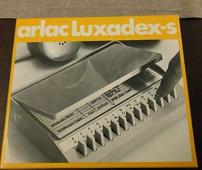 arlac Luxadex-s patents Telefonregister vintage Spaceage 70er