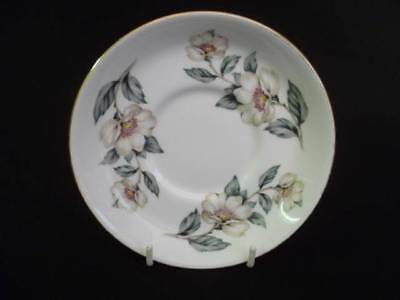 Crown Staffordshire Christmas Roses 13cm Coffee Saucers (A) (uw)
