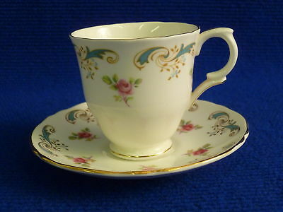 Crown Staffordshire Wentworth Coffee Cups And Saucers