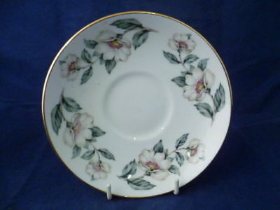 """CROWN STAFFORDSHIRE """" CHRISTMAS ROSES """" 14.5cm SAUCERS"""