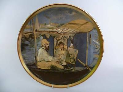 Crown Stafford Edouard Manet Monet Painting His Boat 27cm Decorative Plate (B)