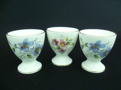 Crown Staffordshire Floral Trio Of Egg Cups