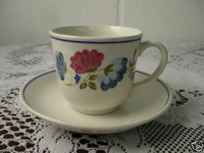 """British Home Stores """" Priory """" Tea Cups & Saucers"""