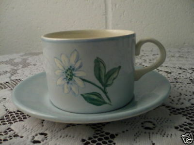 "Boots ""blue Fleur"" Teacups And Saucers"