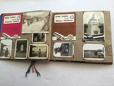 Antique Vintage Photo Album Old Photos trip Sydney to Adelaide 1946 DC2 Plane