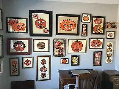 Antique Framed JOL Halloween - FABULOUS ENTIRE COLLECTION - Resell or ?? HELP!!!