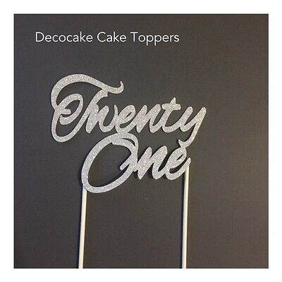 21 Twenty One Birthday Cake Topper   Australian  Seller