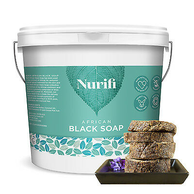 African Black Soap by Nurifi - made from Coconut Oil and Shea Butter - 250g