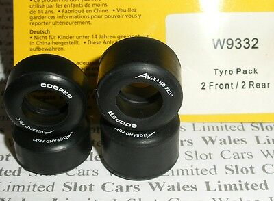 Scalextric - W9332 A1GP Front and Rear Tyres - NEW