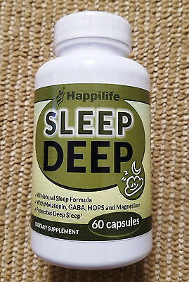 SLEEP DEEP Aid Happilife : Sleeping Pills melatonin valerian 60 caps tablets NEW