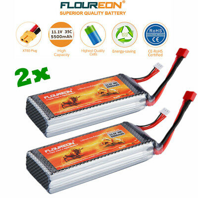 2X 11.1V 5500mAh 3S 35C RC Lipo batterie pour RC Helicopter RC Avion RC Hobby FR