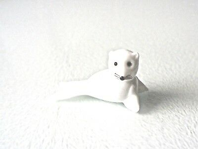 Seal Glass Ornament - Pure White Glass - Nicely Detailed - New & Boxed