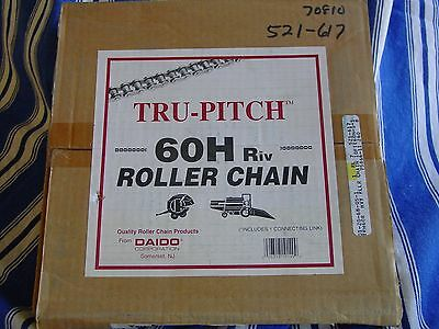 Tru Pitch 60H RIV Roller Chain 160 Pitches 10 Feet