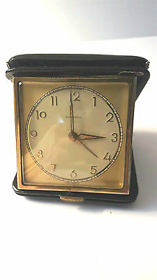 Junghans Leather Case Vintage Travel Alarm Clock