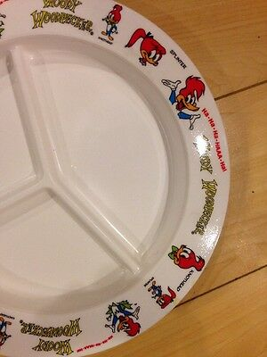 Splinter Knothead Woody Woodpecker 1970s Plastic Divided Plate New/Unused