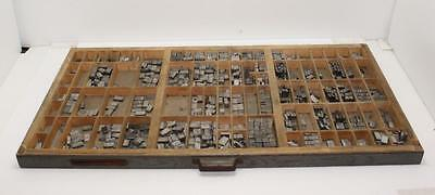 Lot of over 500 Vintage Typeset Numbers Letters & Characters Metal Letterpress