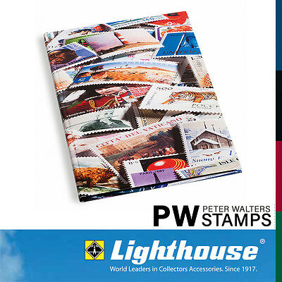 Lighthouse A4 Stockbook 16 Black Pages Stamp Design Cover