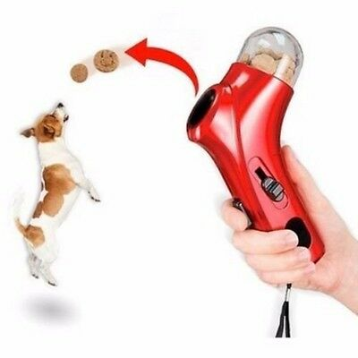 Handheld Treat Launcher Pet Dog Interactive Fun Snacks Food Feeder Training Toy