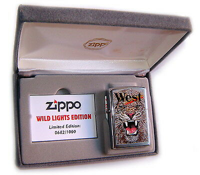 ZIPPO Beautiful LION-WILD WEST Numbered Limited Edition LUXURY BOX ULTRA RARE  !