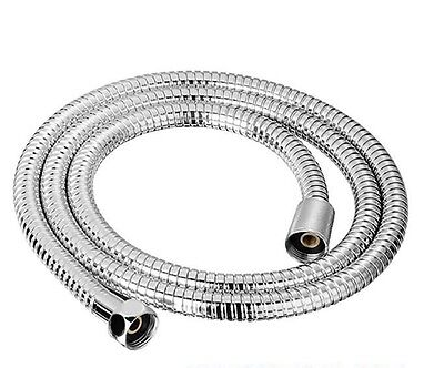 1m 1.5m 2 2.5m Shower Bath Hose Stainless Steel Chrome Replacement Bathroom Pipe