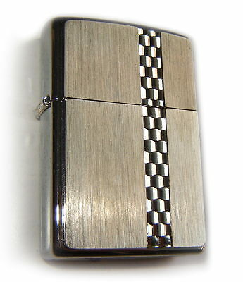Zippo Vintage LUXURY SERIES I CHECKBOARD STRIPE PLATE Special Edition SUPER RARE