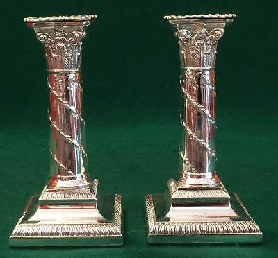 Pair of Victorian candlesticks c1890 by Hawksworth Eyre & Co