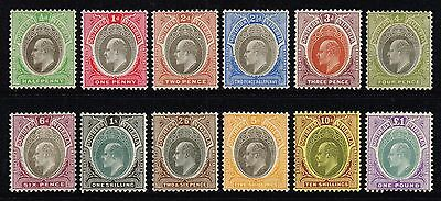 Southern Nigeria 1904-09 King Edward VII set to £1, MH (SG#21/32ab)