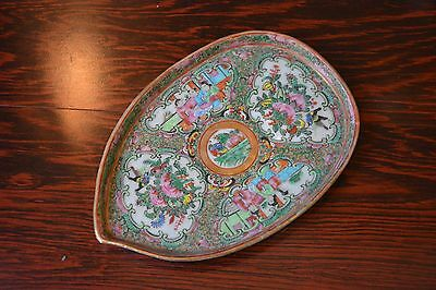 Antique Chinese Rose Medallion tray dish plate porcelain