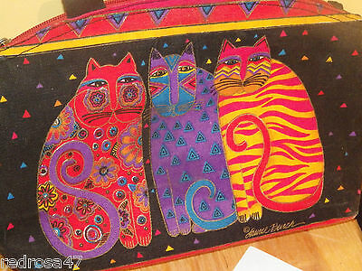 Laurel Burch Shoulder Handbag Cats Kitty Kitties Purse *beauty* Incred Colors