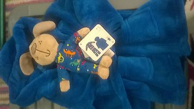 Baby boys bnwt dressing gown and teddy 6 12 months