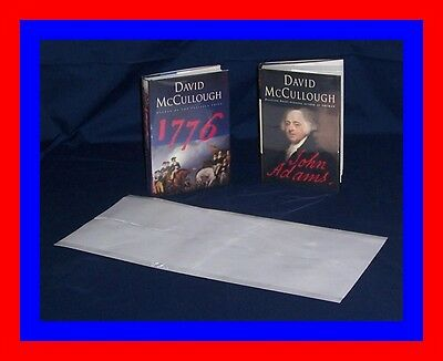"25 - 9 1/2"" x 20"" Brodart ARCHIVAL Fold-on Book Jacket Covers Super Clear Mylar"