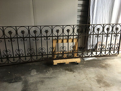 Iron Gate, Antique French balcony railing.