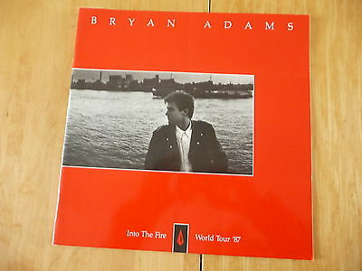 "Bryan Adams: ""1987 Original Into The Fire World Tour"" Program from Canada"