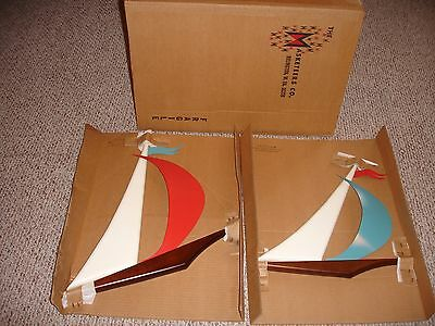Vintage Mid-Century Masketeers Sailboats (2) NEW IN ORIGINAL BOX Very Rare