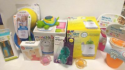 Baby Bundle Sale - Avent Fridababy Bottle Warmer Pacifiers Bowls New