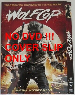 No Discs !! Wolf Cop Dvd Cover Slip Only - No Discs !!           (Inv13287)