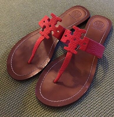 82f0057ed3c TORY BURCH POPPY Red Moore Sandals Sz 8.5 Retail  195 SOLD OUT ...