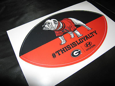 "Hyundai ""This is Loyalty"" Georgia Bulldogs Sticker"