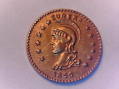 1850 California Gold Token - Eureka 10Kt Solid Gold - But It Now