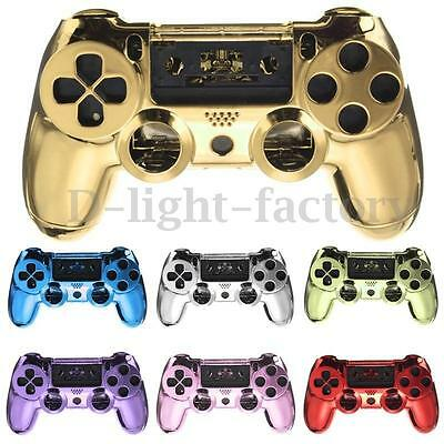 Chrome Plating Skin Housing Shell Case Cover For PlayStation 4 PS4 Controller