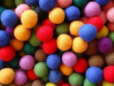 Felt Balls 2cm Assorted Color Felt Wool Balls Colors Felt Wool Pom Pom DIY Craft