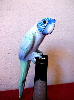 Vintage HAND CARVED WOOD TOUCAN PARROT ISLAND TROPICAL Mexico Signed