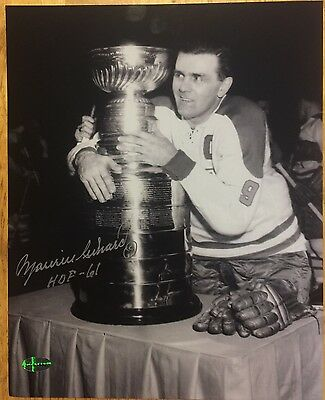 MAURICE Rocket RICHARD Signed Autographed Montreal Canadiens Stanley Cup Photo