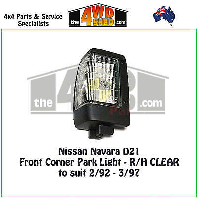 FRONT CORNER CLEAR INDICATOR LIGHT fit NISSAN NAVARA D21 RH DRIVER RIGHT 92-97