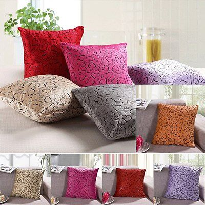 Heart Pattern Pillow Case Protector Cushion Cover Sofa Car Bed 16''*16''