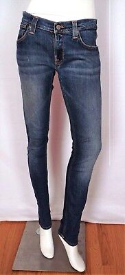 Nudie Tight Long John Super Blue Jeans W 28 x L 32