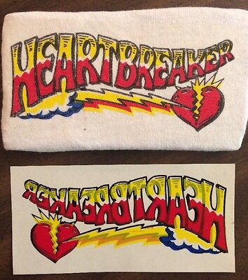 """HEARTBREAKER""  Iron on Tshirt Transfer 4.5""x2"" Inch"