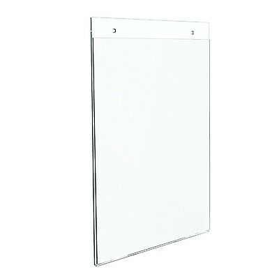 Dazzling Displays 10-pack Acrylic 8.5 x 11 Wall Mount Sign Holders