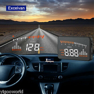 Windscreen Car Head Up Display HUD Projector OBD II EOBD Speed Warning