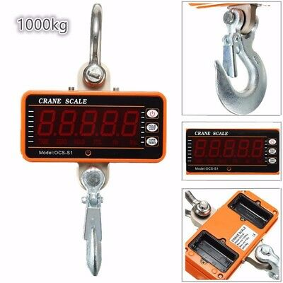 1000KG High Precision Aluminum Digital Crane Scale heavy Duty Hanging NEW
